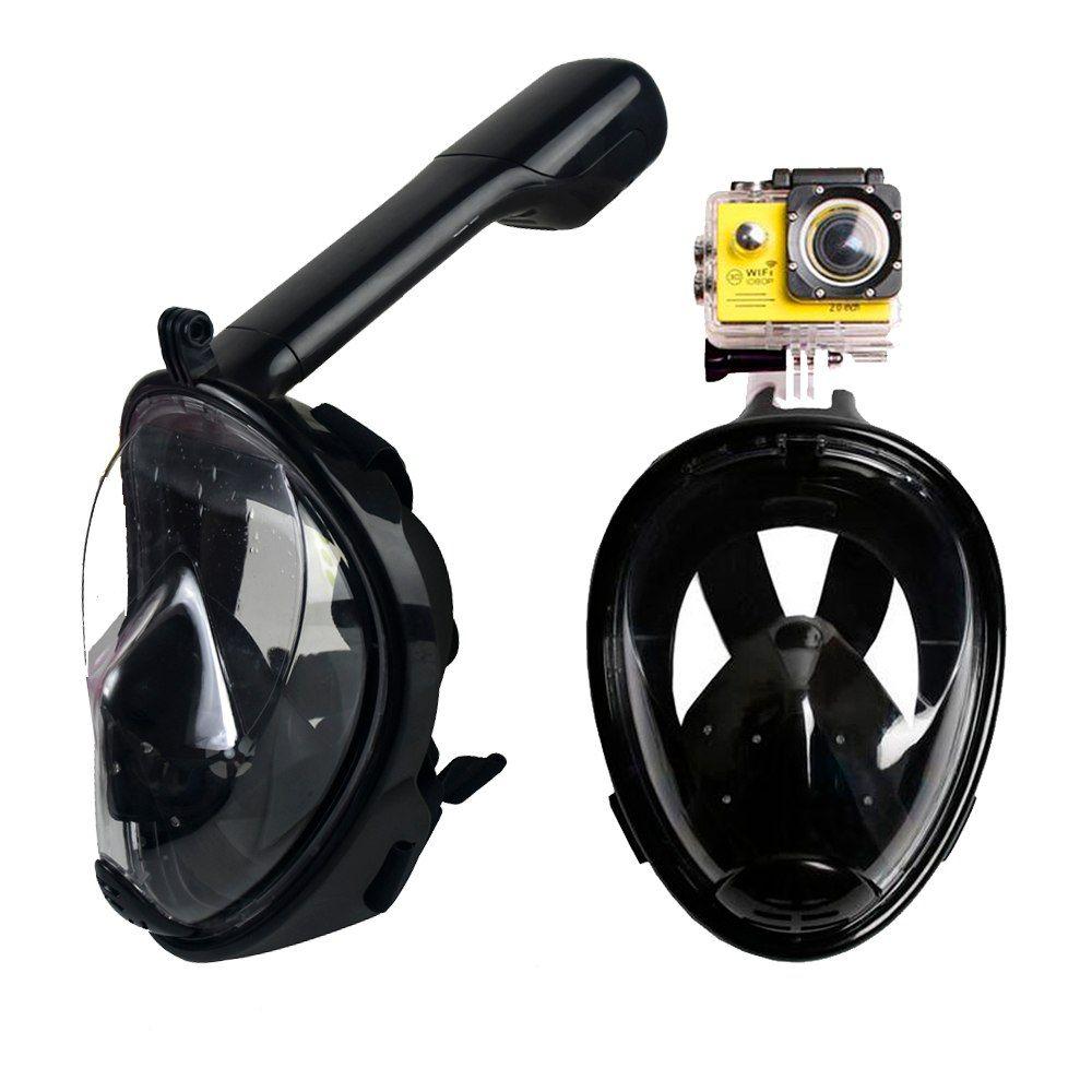 Маска Для Снорклинга Freebreath С Креплением Для Экшн-Камеры, Цвет Черный, S/M