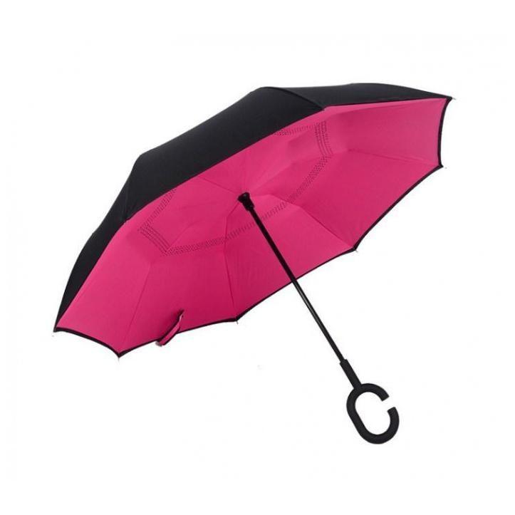 Зонт Наоборот Upbrella, Розовый Однотонный