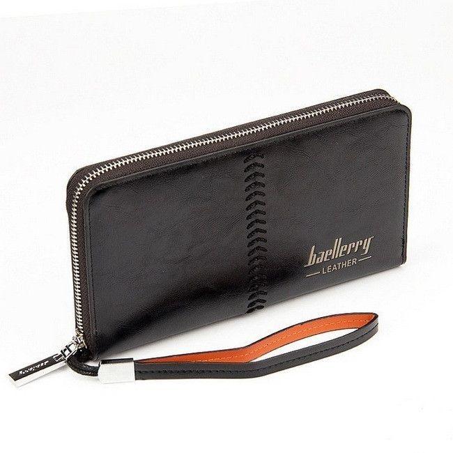 Портмоне Baellerry Leather, Цвет Черный