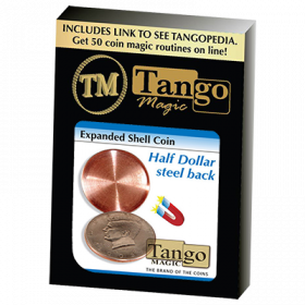 Expanded Shell Coin (Half Dollar) (Steel Back) by Tango Magic