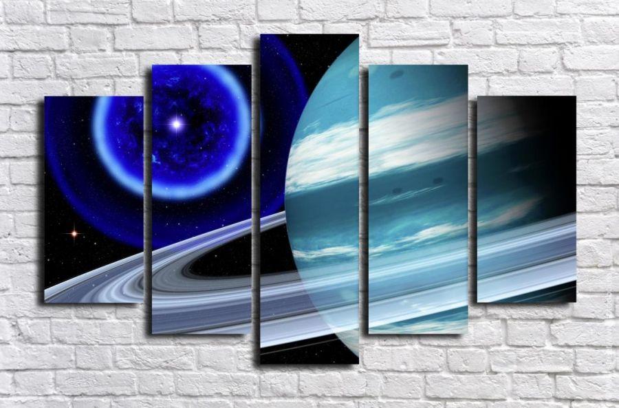 Модульная картина Космос 7