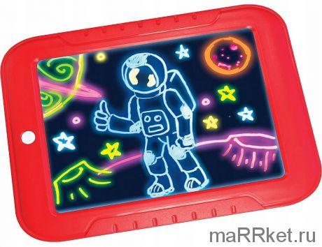 Волшебный планшет для рисования с подсветкой Magic Skechpad (красный)