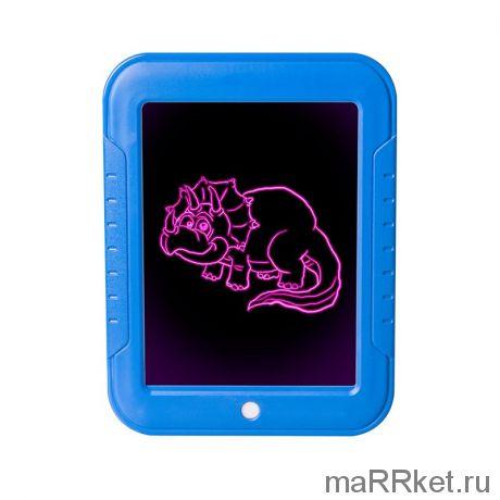 Волшебный планшет для рисования с подсветкой Magic Skechpad (синий)
