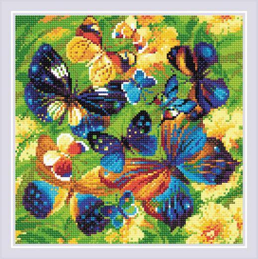 Набор для выкладывания стразами Яркие бабочки АМ0038 фирма Риолис