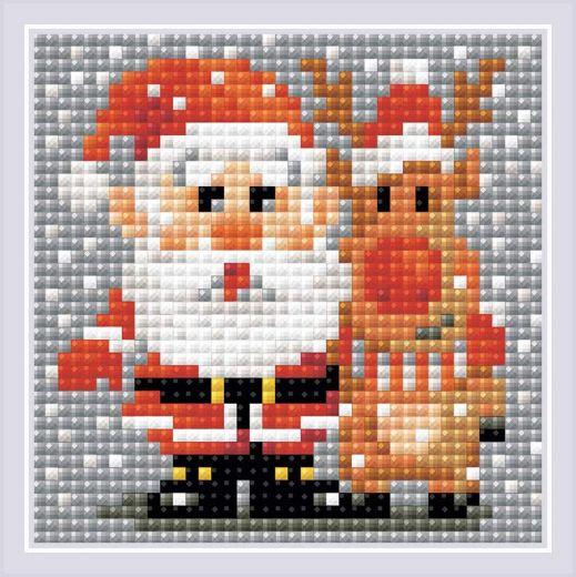 Набор для выкладывания стразами Санта-Клаус АМ0018 фирма Риолис