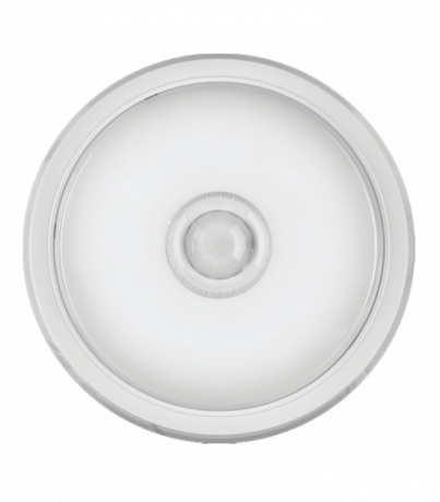 Плоский настенный светильник с датчиком OBL-R1-14-4K-WH