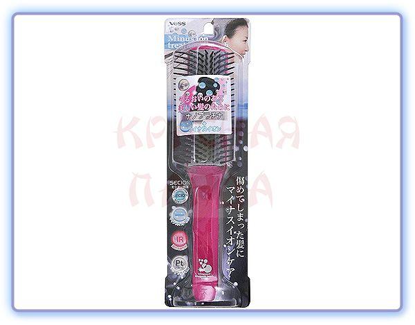 Щетка массажная для волос с отрицательно заряженными ионами VeSS (большая)