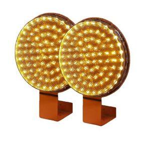 Желтая сигнальная лампа 300 мм комплект 2 штуки