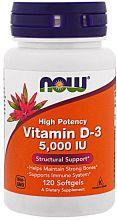 Витамин D-3 5000 ME от Now 120 кап