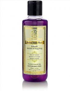 Гель для душа Лаванда и Иланг-иланг (Khadi Herbal Body Wash Lavender Ylang ylang) 210 мл