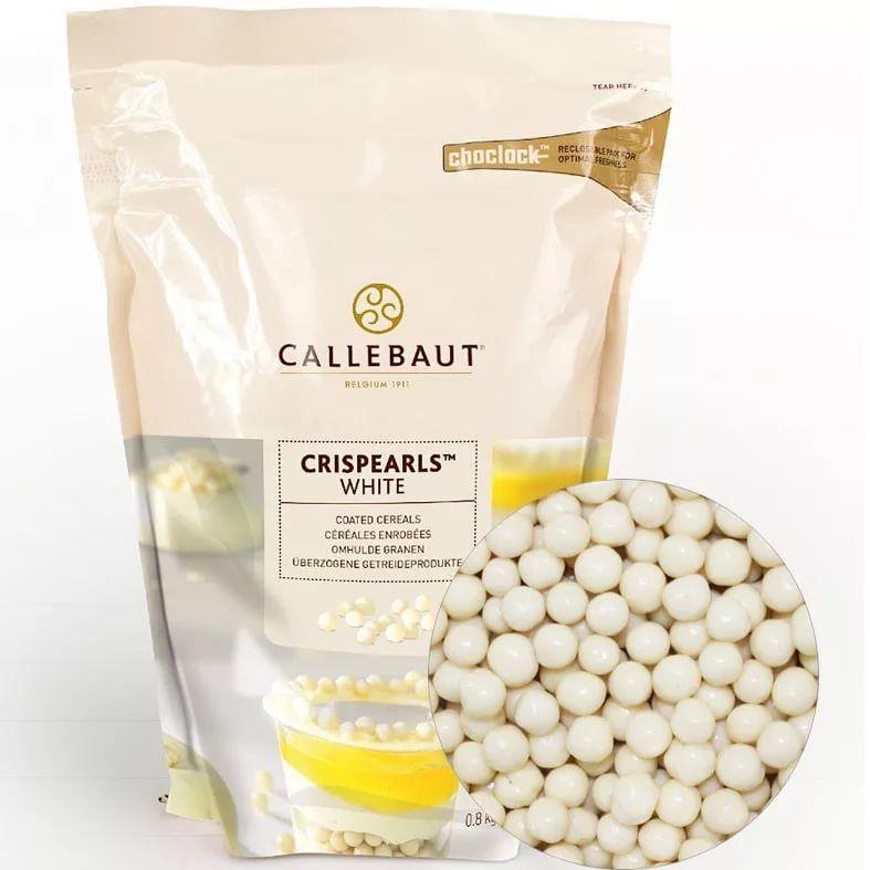 Шоколадные белые шарики (криспи) Callebaut, 60гр.