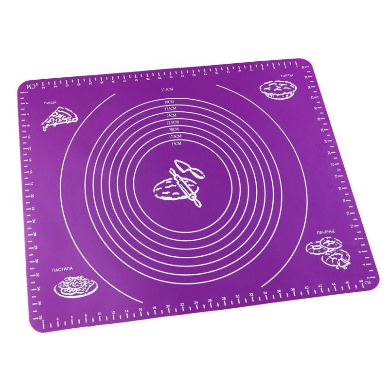 Силиконовый Коврик Для Раскатывания Теста, 30х40 См, Цвет Фиолетовый