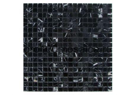 NERO MARQUINA Pol. 15х15. Мозаика серия STONE,  размер, мм: 305*305*4мм (ORRO Mosaic)