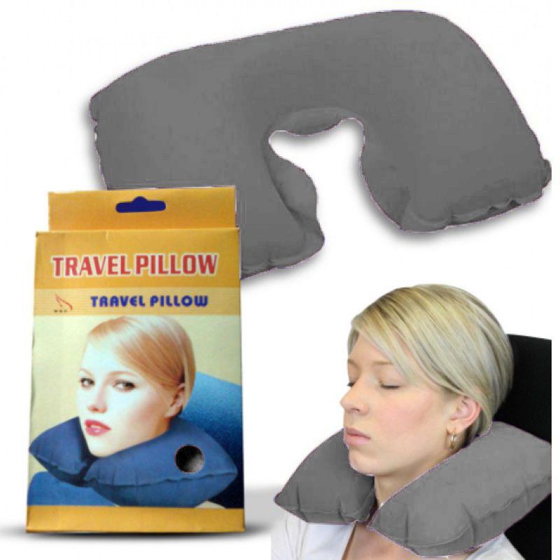 Подушка Для Путешествий Travel Pillow (Тревел Пиллоу), Цвет Серый