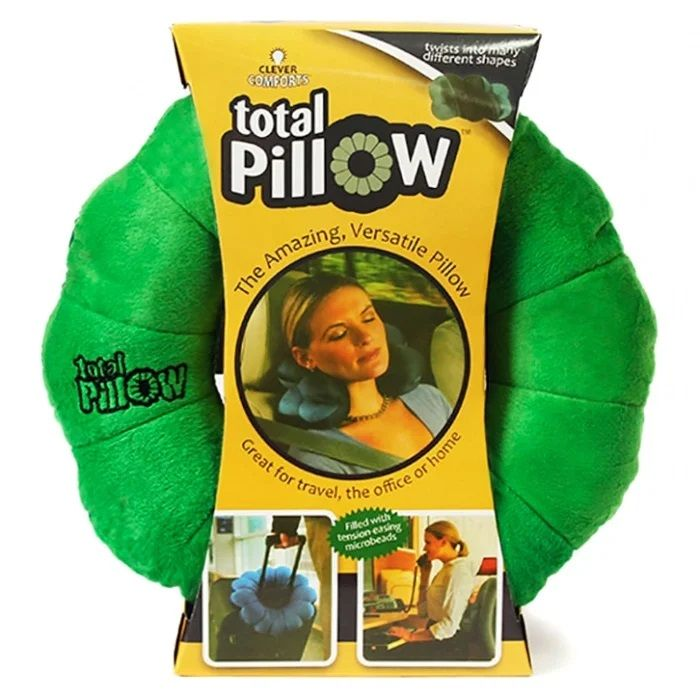 Подушка-Трансформер Для Путешествий Total Pillow (Тотал Пиллоу), Цвет Зеленый