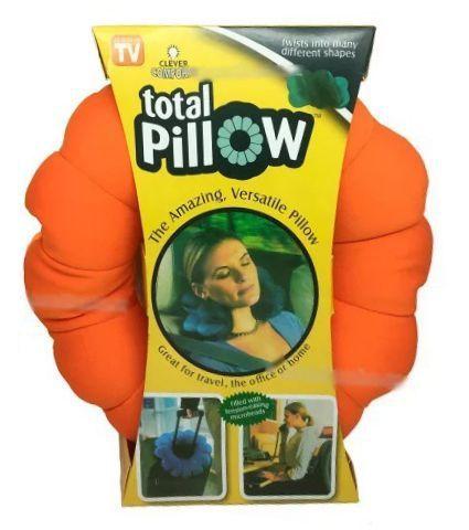 Подушка-Трансформер Для Путешествий Total Pillow (Тотал Пиллоу), Цвет Оранжевый