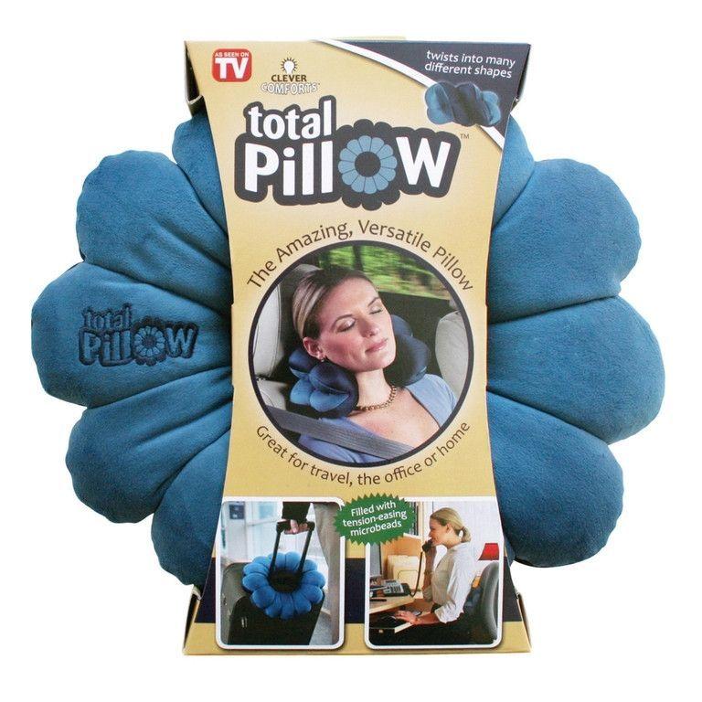 Подушка-Трансформер Для Путешествий Total Pillow (Тотал Пиллоу), Цвет Синий С Голубым
