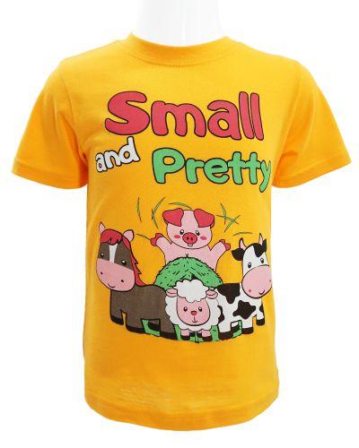 "Футболка для девочки 1-4 года Dias kids ""Small and Pretty"" оранжевая"