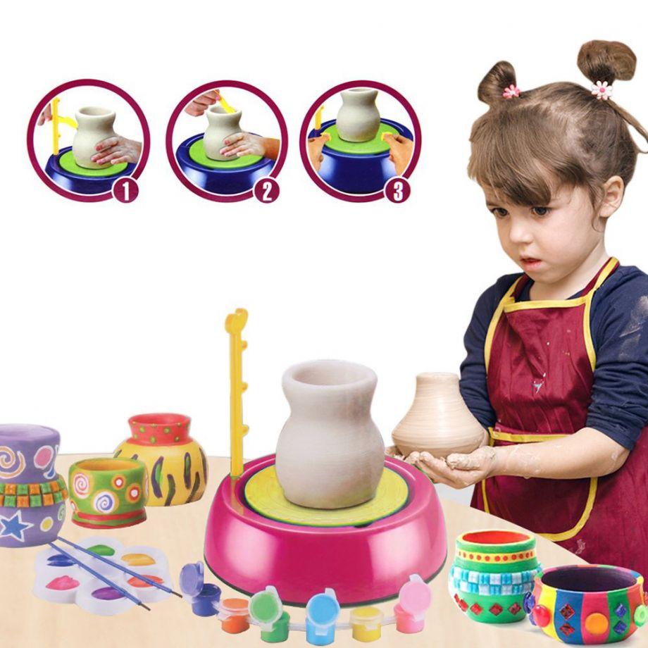 Детский гончарный круг Pottery Wheel (цвет розовый)
