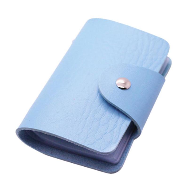 Кредитница-Визитница на 24 карты (цвет голубой)