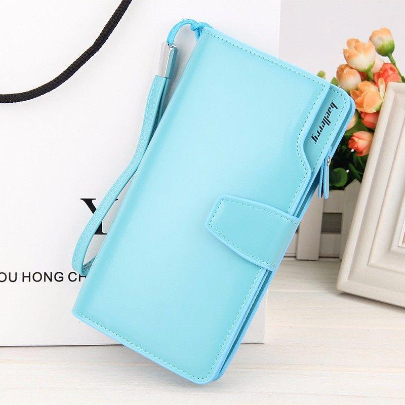Кошелёк Woman Baellerry Wallet Pu Clutch Bag, Цвет Голубой