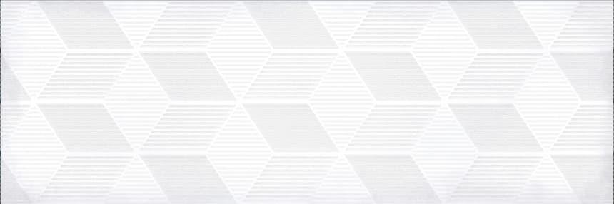 1664-0184 Настенная плитка декор Парижанка 20x60 гексагон белая