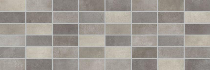 1064-0103 Настенная плитка панно мозаика Фиори Гриджо 20х60 тёмно-серая