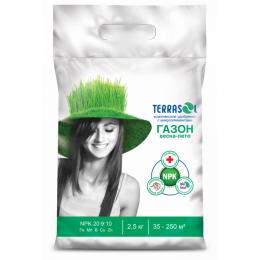 Удобрение сухое Террасол минеральное для Газона весна-лето с микроэлементами ведро 2,5 кг