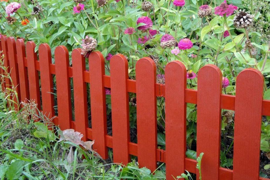 Забор декоративный №7 Штакетник, 7 секций, Цвет Терракот