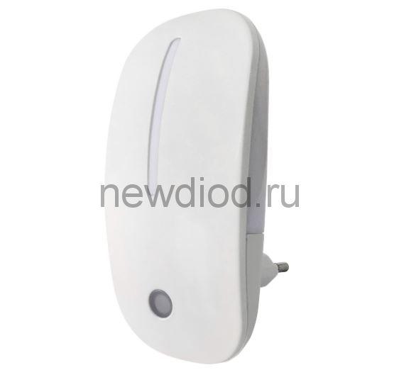 Ночник светодиодный NLE 05-MW-DS белый с датчиком освещения 230В IN HOME