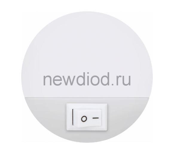 Ночник светодиодный NLE 07-LW белый с выключателем 230В IN HOME