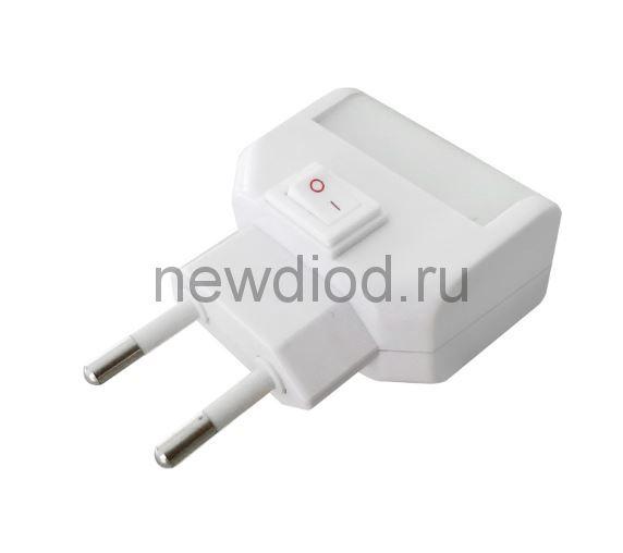 Ночник светодиодный NLE 09-LW белый с выключателем 230В IN HOME