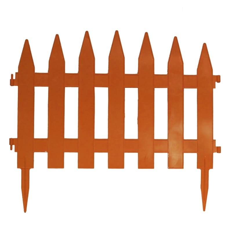 Забор декоративный № 1, 7 секций, терракотовый
