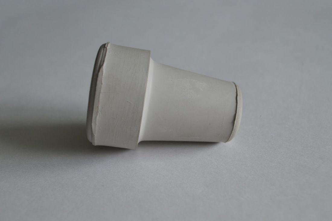 Наконечник для трости 60х16 мм, резиновый, цвет серый