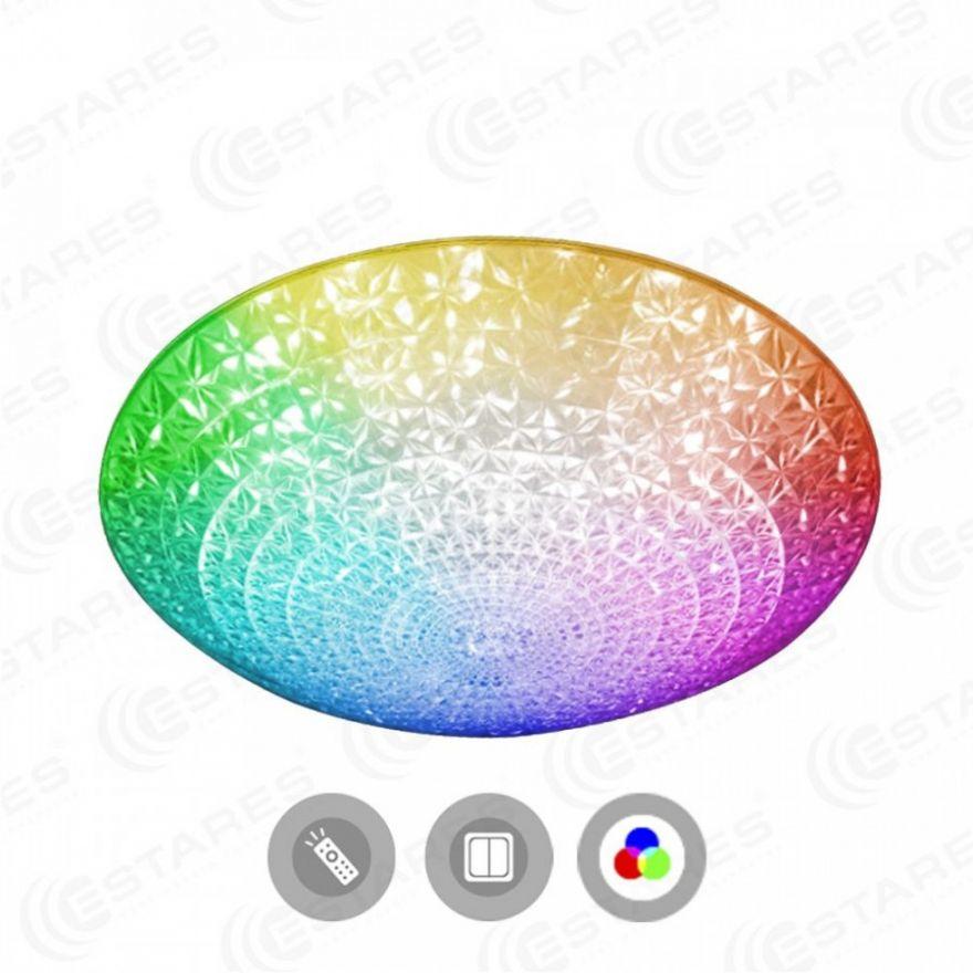 Светильник светодиодный Estares AKRILIKA RGB R-400-CLEAR/WHITE-220-IP20/2019