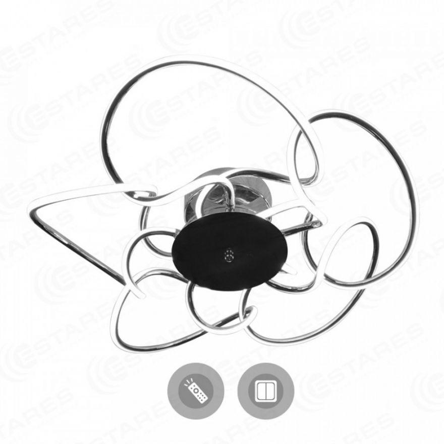 Светильник светодиодный Estares CAMELIA 120W R-600-CROME/OPAL-220-IP20