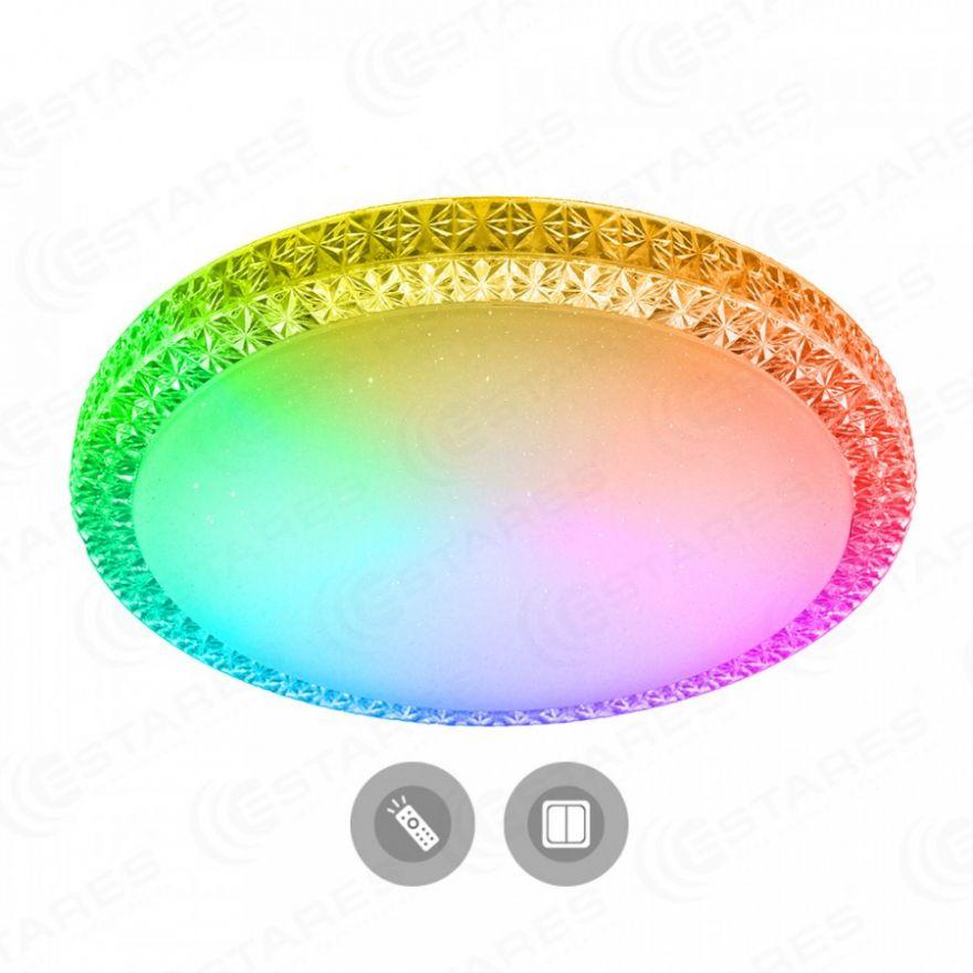 Светильник светодиодный Estares PLUTON RGB 60W R-520-CLEAR/SHINY-220-IP40/2019