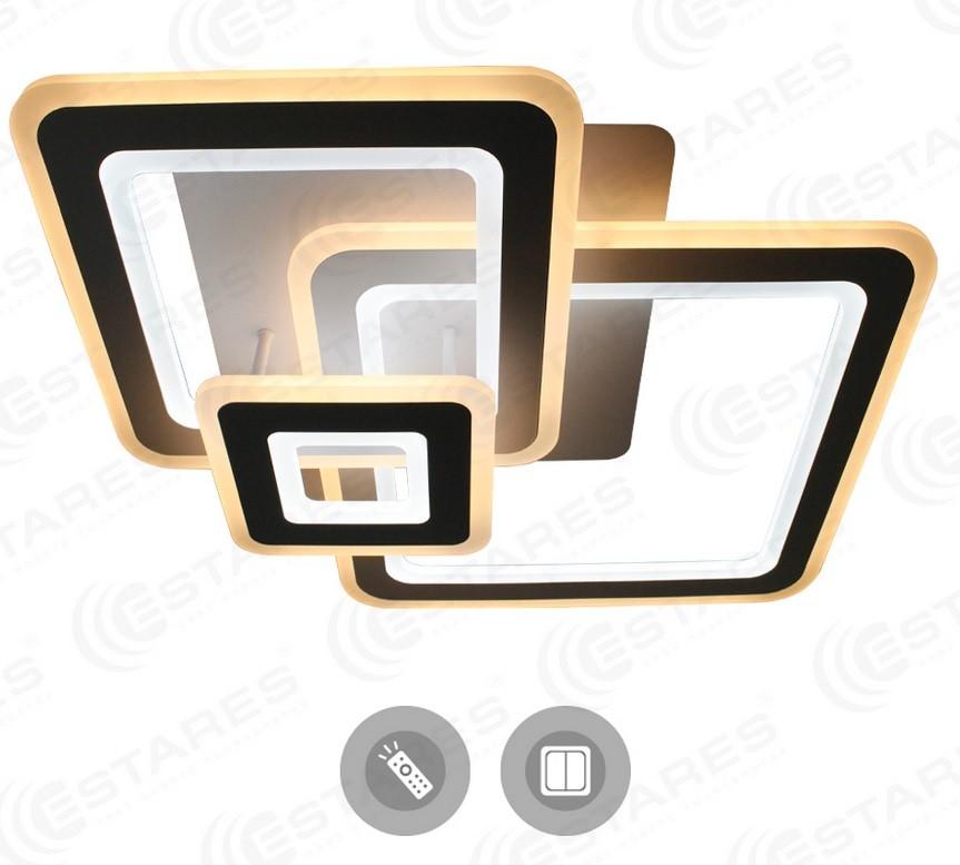 Светильник светодиодный Estares Triplex square 124w S-700/600-white/white-220-ip44