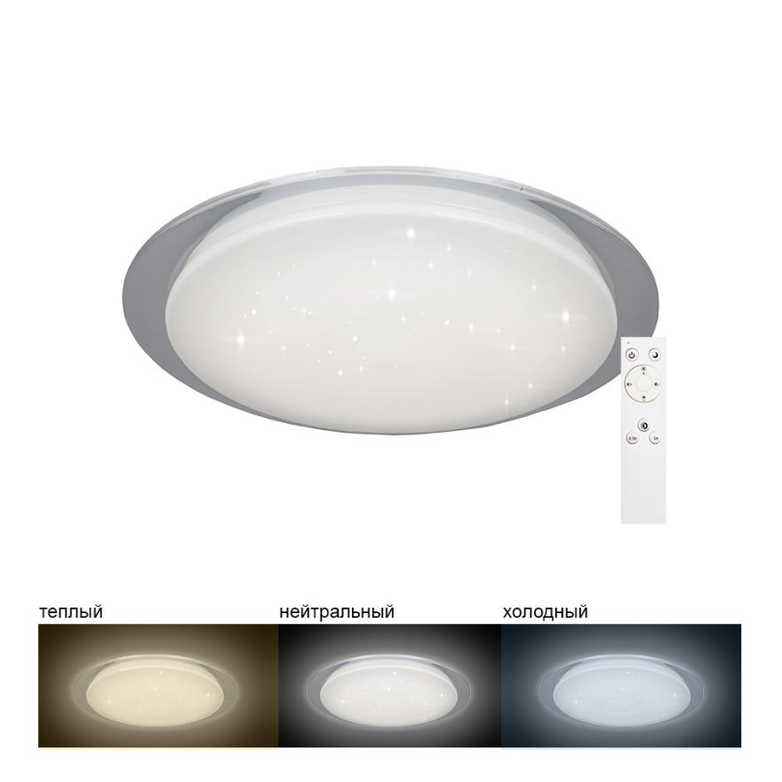 Светильник светодиодный управляемый накладной Feron AL5000 тарелка 36W 3000К-6500K белый с кантом