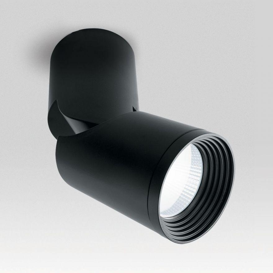 Светильник светодиодный Feron AL517 накладной 10W 4000K черный наклонный