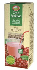 Коктейль молочный Вишня 3,2% 200г Село зеленое