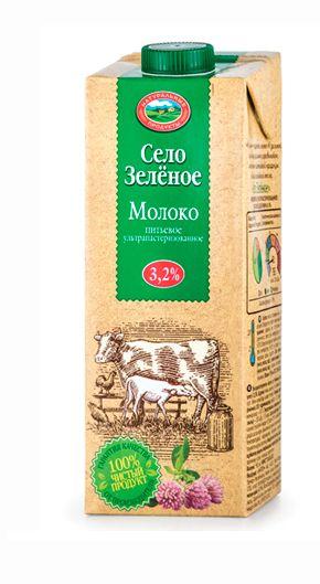 Молоко ультрапаст 3,2% т/пак 500г Село зеленое