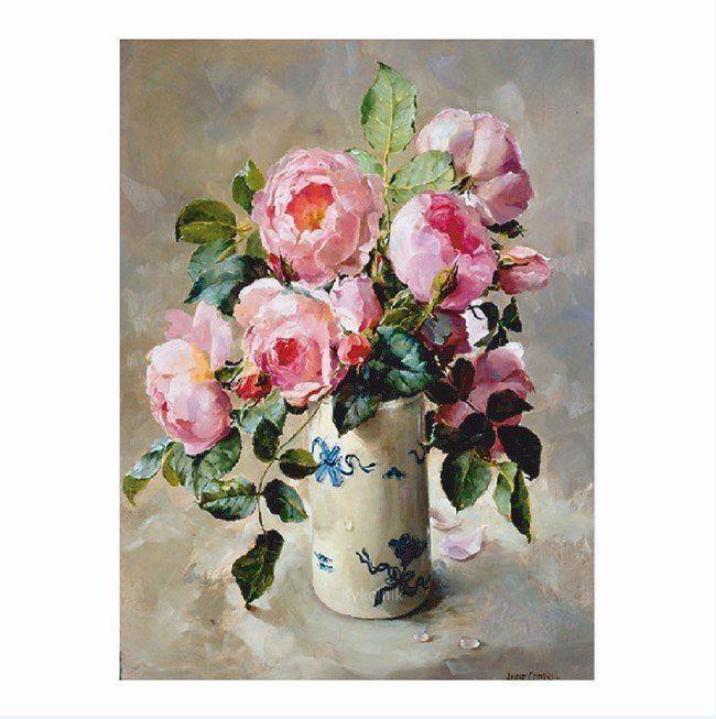 Картина по номерам Розовый шиповник 15*20см KH0252