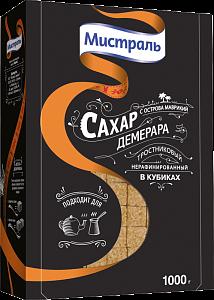 Сахар н/рафиниров. кубиками МИСТРАЛЬ 1000г