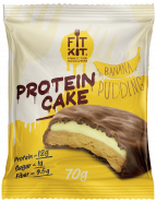 Fit Kit Protein Cake 70 гр Банановый пудинг
