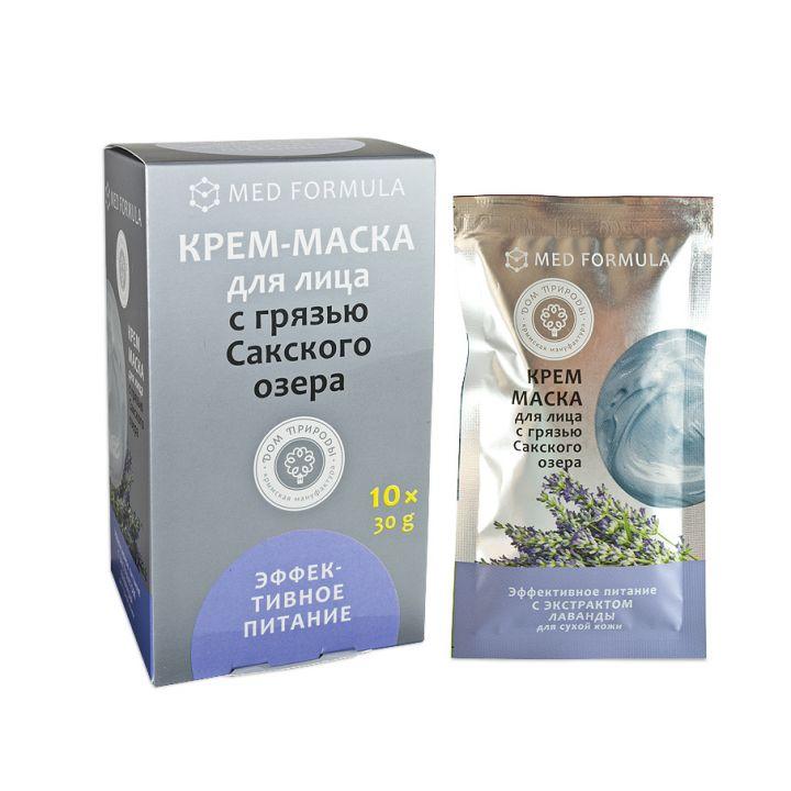 """Крем-маска с Грязью Сакского озера """"Эффективное питание"""", 30 гр."""
