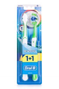 Зубная щетка ORAL_B Комплекс пятисторонняя чистка 40 средняя 1+1 бесплатно