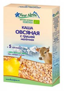 Каша Флер Альпин 200 гр Молочно-овсяная с грушей с 5мес.