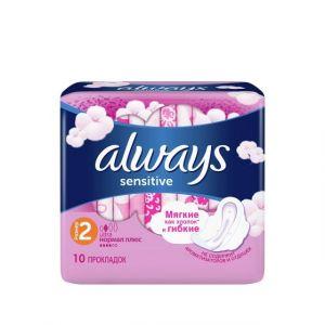 Прокладки ALWAYS Ultra Sensitive жен. гигиен..10 шт Normal Plus Single