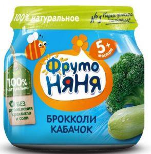 Пюре Фрутоняня брокколи-кабачок ст/б 0,080 кг